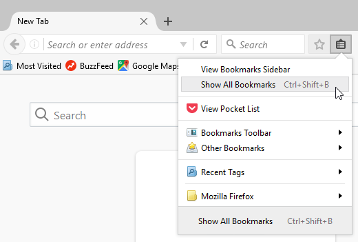 Show All Bookmarks