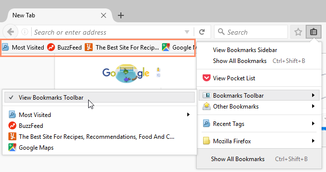 bookmarks Toolbar