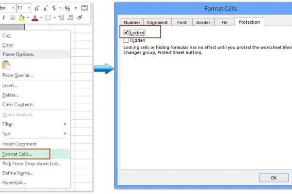 How to Protect Cells in Excel