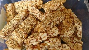 Pumpkin seeds brittle