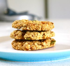Cherry-pumpkin breakfast cookies
