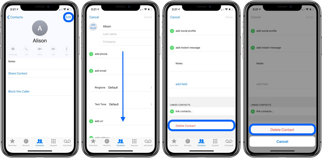 Delete Multiple Contacts In iPhone