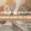 6 rules for effective Instagram marketing etiquette