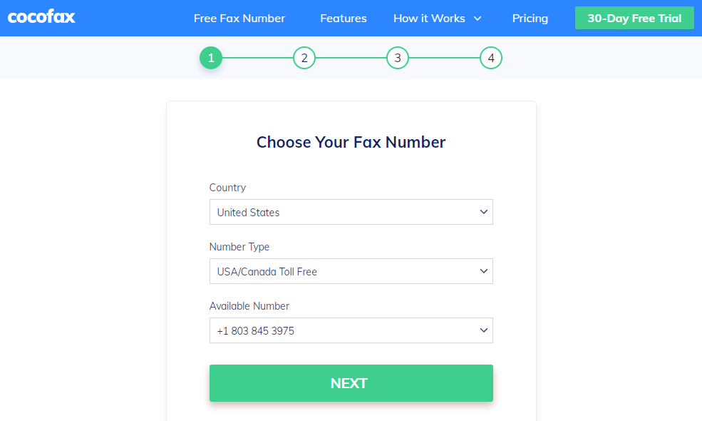 free-trial-choose-fax-number