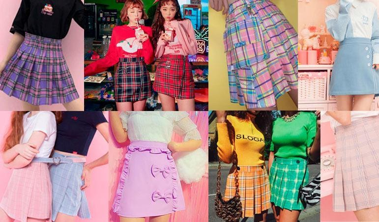 Pleated cropped skirts and shorts