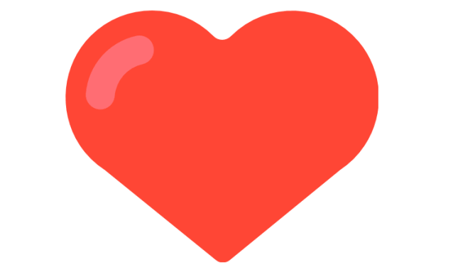 The red heart Snapchat gives its users to depict the type of friendship.